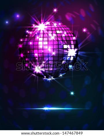background disco party  - stock photo