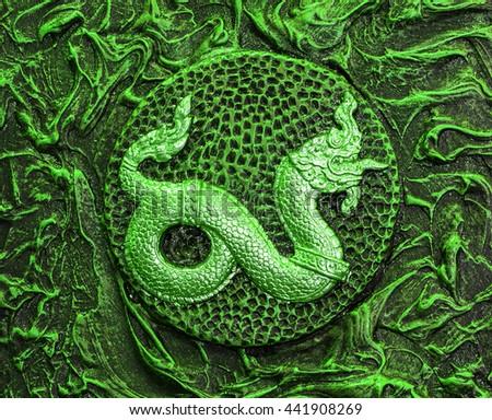 Background dragon - stock photo