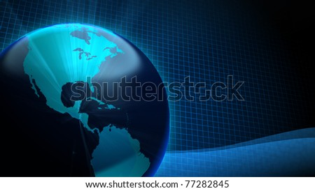 Background - Earth Shine - stock photo