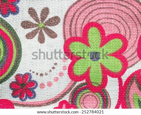 Background fabric with vivid colors - stock photo