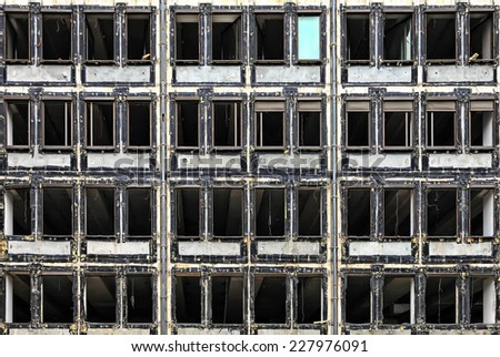 Background facade of the building under construction - stock photo