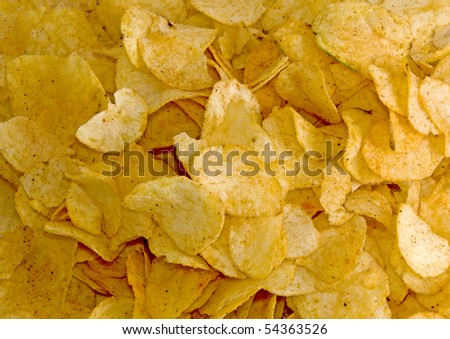 background filled by crisps
