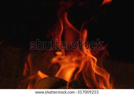 background fire flames - stock photo