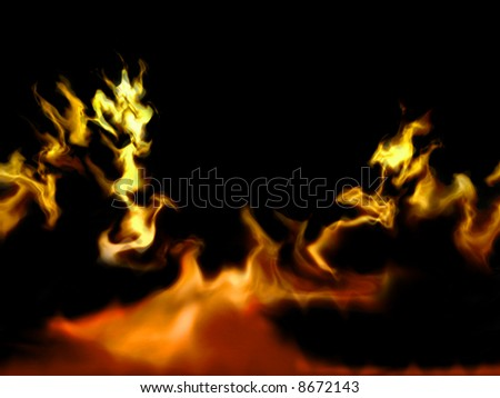 Background flame - stock photo