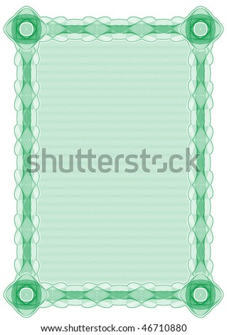 Background for certification, diploma and other documents. Rasterized version. You can find vector Format in my portfolio. - stock photo