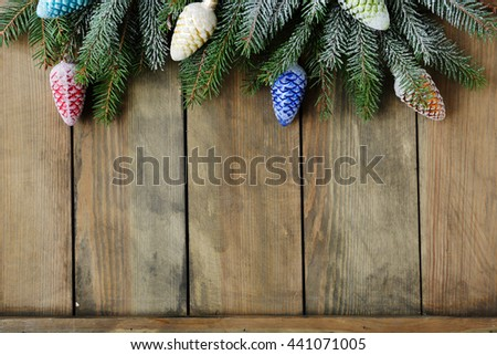 background for christmas holidays top view - stock photo