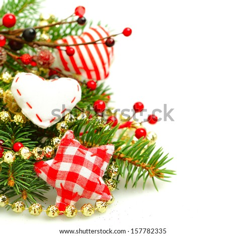 Background for Christmas or New Year greeting card