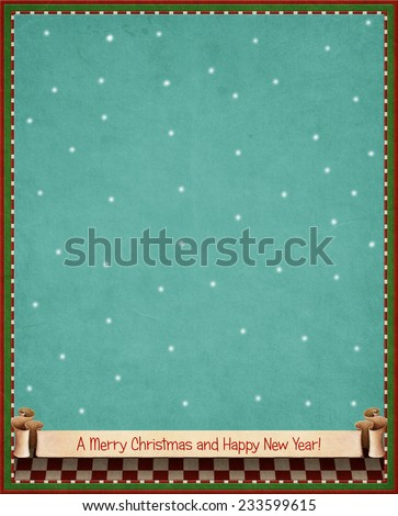 Background for greeting card Christmas or New Year - stock photo