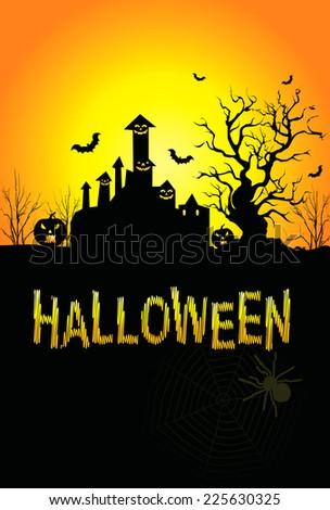 Background for Halloween Celebrations - stock photo
