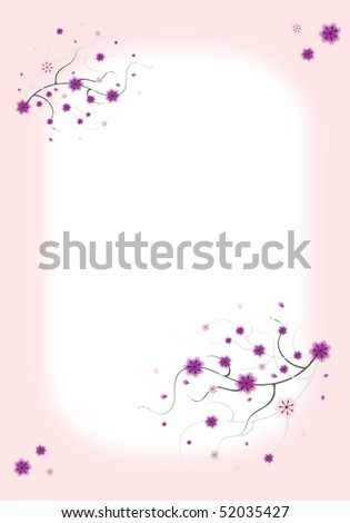 Background for letter paper or greeting cards