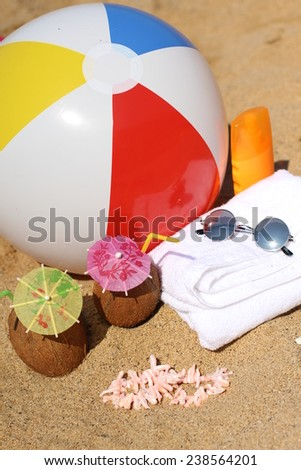 background for relaxing on the beach - stock photo