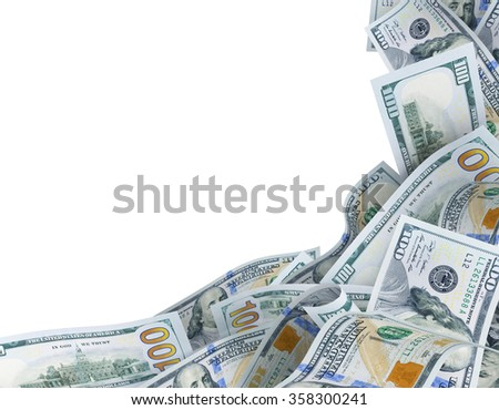 background for text with dollar banknotes - stock photo