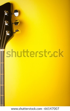 background for the design of musical themes - stock photo