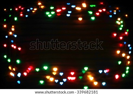 background frame of garlands - stock photo