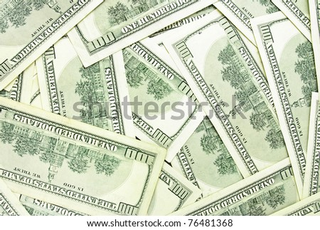 Background from a lot of dollar banknotes - stock photo