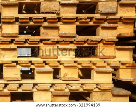 background from a wooden pallets - stock photo