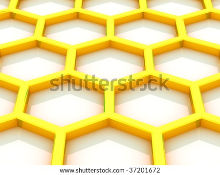 Background from beer honeycombs on a white background - stock photo