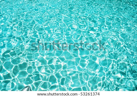background from blue water - stock photo
