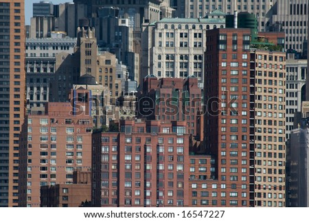 background from buildings - stock photo