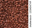 Background from coffee beans. 3d image. - stock photo