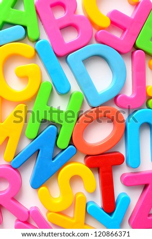 background from colorful letters