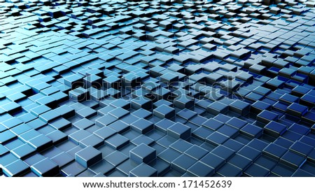 Background from cubes - stock photo