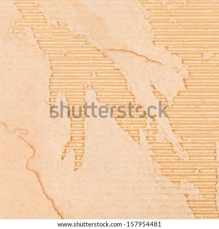 background from damaged packaging cardboard - stock photo