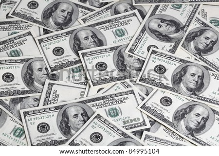 Background from dollars. Riches, luxury, good luck - stock photo