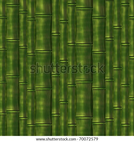 Background from green stalks of a bamboo