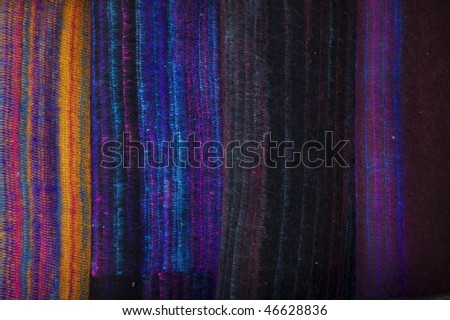 Background from hand made woolen fabric - stock photo