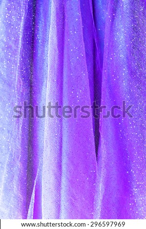 Background from lilac delicate fabric with sequin - stock photo