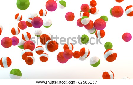 Background from multi-colored spheres - stock photo