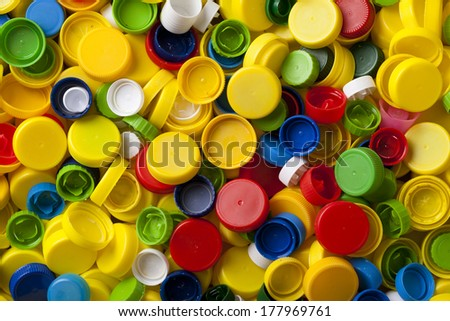 background from plastic screw caps