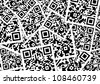 background from qr codes - stock photo