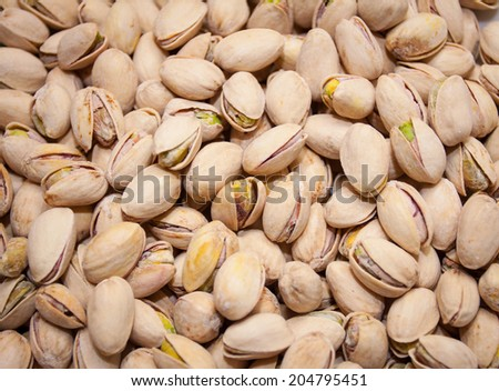 Background from salt pistachios - stock photo