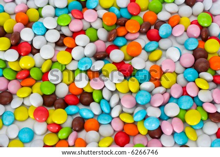 Background from sweets - stock photo