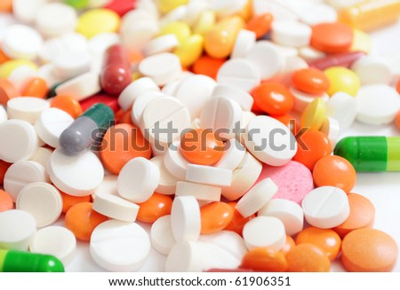 Background from tablets - stock photo