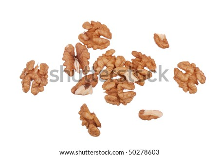 Background from the cleared walnuts isolated - stock photo