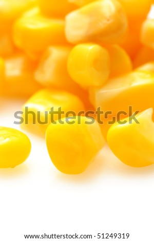 Background from tinned maize - stock photo