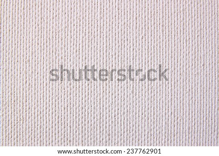 Background from white coarse canvas texture. High res - stock photo