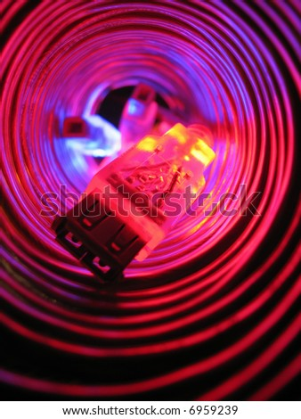 Background from wires. Connection - stock photo