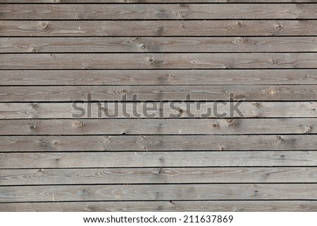 Background from wooden planks on wall - stock photo