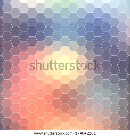 Background geometric pattern. Summer or spring theme. Colorful mosaic banner. Geometric background with place for your text. Abstract background for design  - stock photo