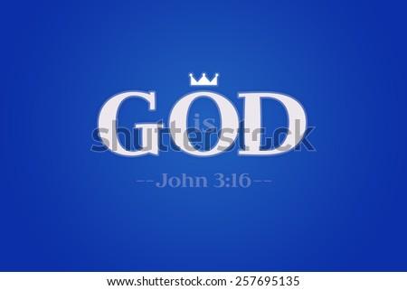 Background God is - stock photo