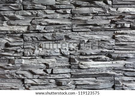 Background gray stone relief - stock photo