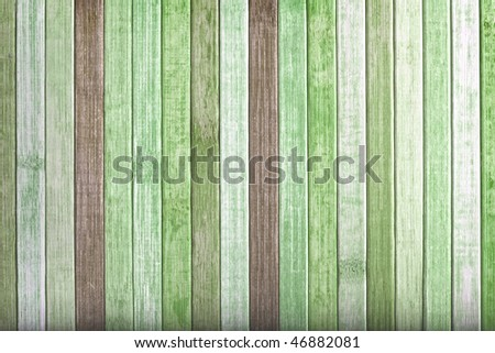 Background green color wood - stock photo