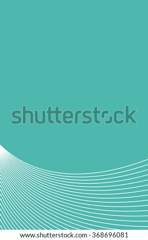 Background green white curved lines - stock photo