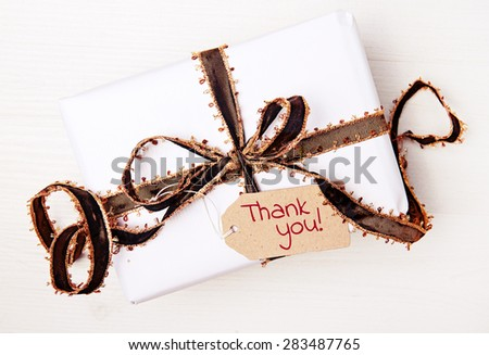 background - greeting card - gift present - thank you - stock photo