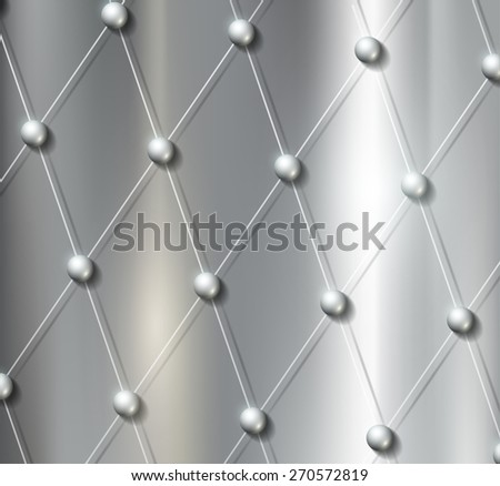 background grid with metal balls - stock photo