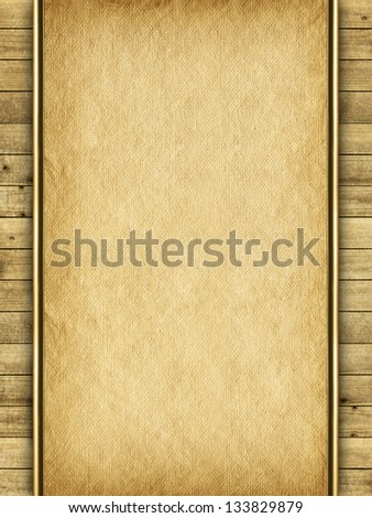 Background - handmade paper sheet and planks